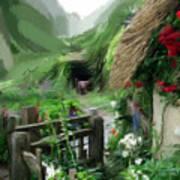 Magical English Mountain Cottage 2 Art Print