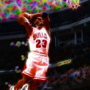 Magical Michael Jordan White Jersey Art Print by Paul Van Scott
