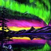 Magical Night Meditation Art Print