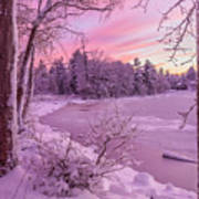 Magical Sunset After Snow Storm 1 Art Print
