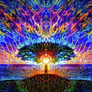 Magical Tree And Sun 2 Art Print