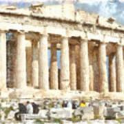 Magnificent Acropolis In Athens Art Print