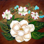 Magnolia And Dogwood Art Print