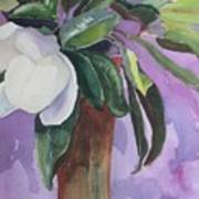 Magnolia Art Print by Elizabeth Carr