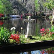 Magnolia Place Pond Art Print