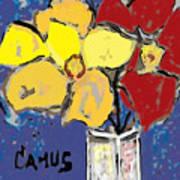 Magnolia Y Colores Print by Carlos Camus
