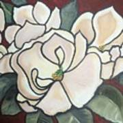 Magnolias Under Glass Art Print