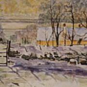 Magpie After Claude Monet Art Print