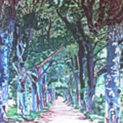 Mahogany Avenue Art Print