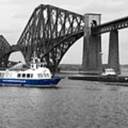 Maid Of The Forth In Blue. Art Print