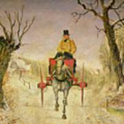 Mail Cart Christmas Art Print