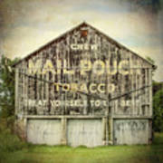 Mail Pouch Barn - Us 30 #7 Art Print