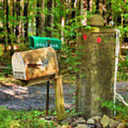 Mailbox On The Rural Country Road Art Print