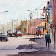 Main Street - Wautoma Art Print