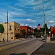 Main Street Clayton Nc Art Print by Doug Strickland