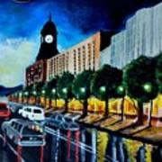 Main Street Clock Tower Art Print