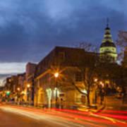 Main Street In Annapolis Art Print