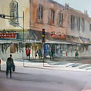 Main Street Marketplace - Waupaca Art Print