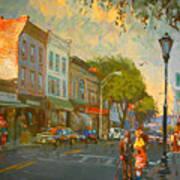 Main Street Nyack Ny  Print by Ylli Haruni