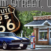 Main Street, Usa Camaro Art Print