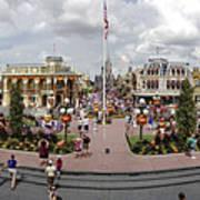 Main Street Usa Panorama Art Print