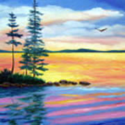 Maine Evening Song Art Print