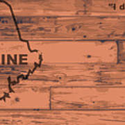 Maine Map Brand Art Print