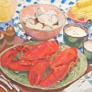 Maine Menu Art Print