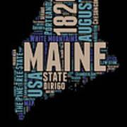 Maine Word Cloud 1 Art Print