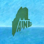Maine Wordplay Art Print