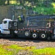Maintenance Truck Art Print