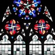 Mainz Cathedral Window Art Print