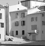 Maisons Sur Le Bord De La Mer A Saint - Tropez Art Print