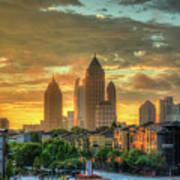 Majestic Gold Midtown Atlantic-station Atlanta Sunrise Art Art Print