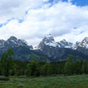 Majestic Grand Tetons Art Print