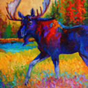 Majestic Monarch - Moose Art Print by Marion Rose