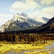 Majestic Mount Rundle Art Print
