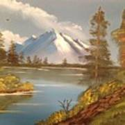 Majestic Mountain Lake Art Print