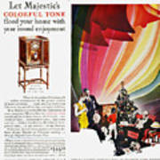 Majestic Radio Ad, 1929 Art Print