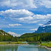 Majestic View At Cascade Ponds - Canadian Rockies Art Print