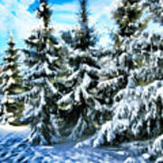 Majestic Winter In New England  Art Print