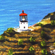 Makapuu Lighthouse #78, Art Print
