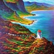 Makapuu Point Lighthouse Art Print