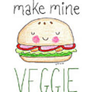Make Mine Veggie Art Print
