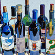 Make Mine Virginia Wine Number Three Art Print by Christopher Mize