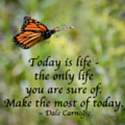 Make The Most Of Today Art Print
