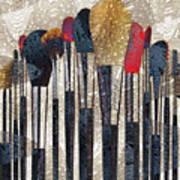 Make Up Brush Art Print