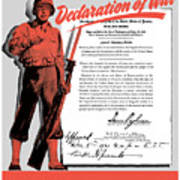 Make Your Own Declaration Of War Art Print