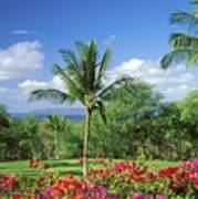 Makena Beach Golf Course Art Print