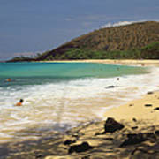 Makena Beach Panorama Art Print
